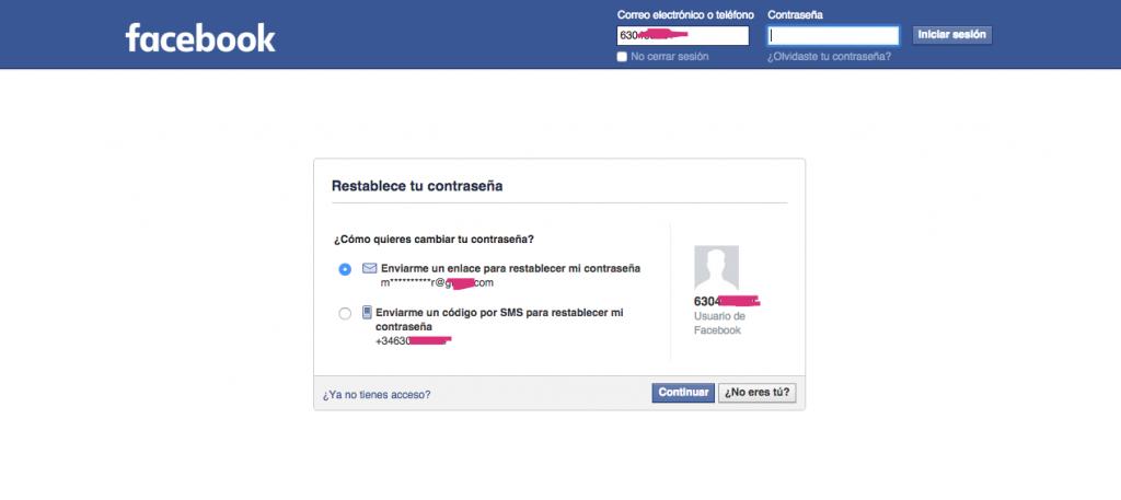Doble verificación de Facebook