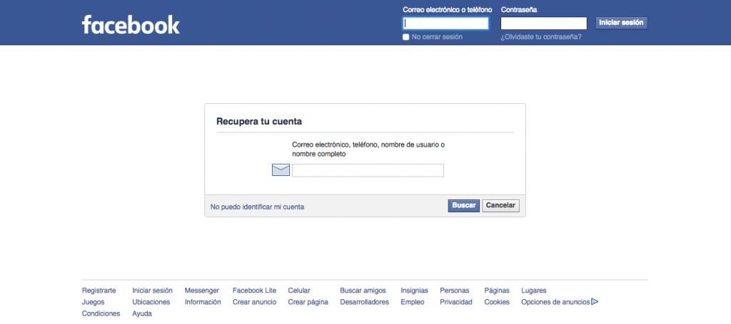 Verificación en 2 pasos de Facebook