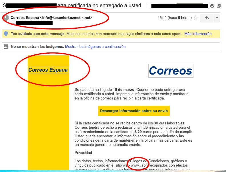 Ransomware de Correos