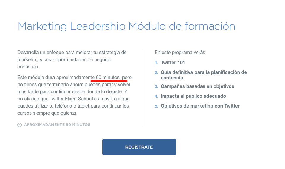 Módulo Marketing Leadership Twitter