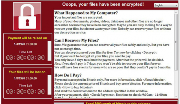 Virus Ransomware WannaCry de telefónica