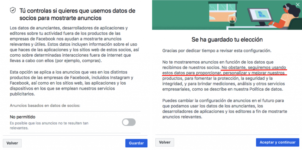 Facebook sigue tus pasos