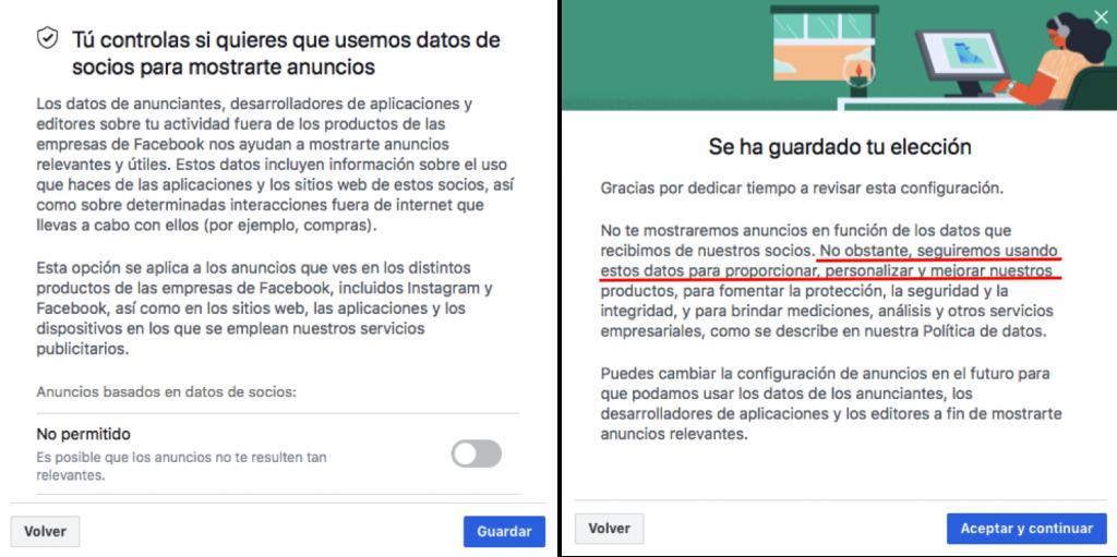 Facebook sigue tus pasos